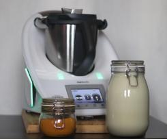 """Mleko sojowe 2 litry bez okary bez odcedzania bio ekologiczne roslinne zamiast krowiego vegan napoj drink na przygotowanie złotego mleka z kurkuma """"Golden milk"""" DIY"""
