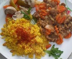 Wieprzowina z ryżem i warzywami