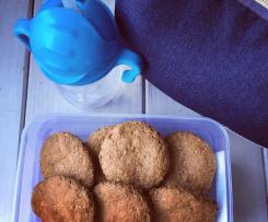 Orzechowe ciasteczka owsiane (BLW / rozszerzanie diety)