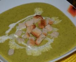 Zupa krem z brokuła i kaszy jaglanej