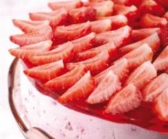 Tort truskawkowo-serowy