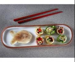 Angielskie muffiny i kęski a'la sushi w bento