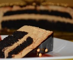 Torcik musowy krówkowo-czekoladowy