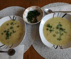 Zupa ogórkowa z ziemniakami i porem