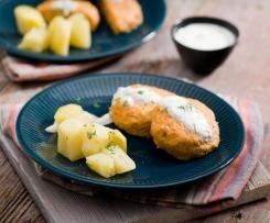 Kotleciki warzywno-drobiowe z sosem koperkowym