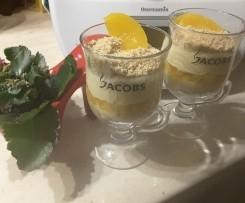 Deser z mascarpone i brzoskwiniami