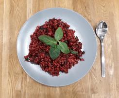 Buraczane pęczotto_ wegańskie wegetariańskie