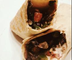 Szpinakowo-fasolowe burrito