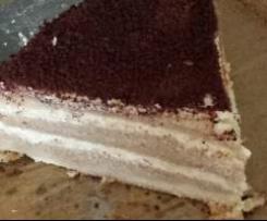 Tort śmietankowo-kawowy