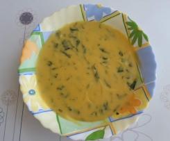Zupa z ciecierzycy ze szpinakiem