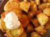 Cukinia w cieście z pieczonymi ziemniakami :-)