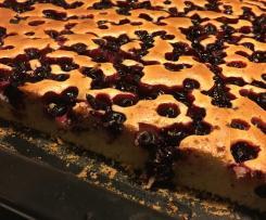 Ciasto lane z owocami