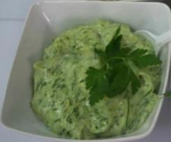 Sos majonezowy zielony