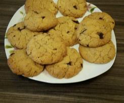 Chocolate chip cookies - ciastka amerykańskie z masłem orzechowym i kawałkami czekolady