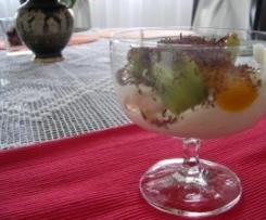 DESER z białą czekoladą, mascarpone i owocami