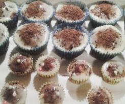 Babeczki kakaowe z białą czekoladą