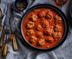 wolno gotowanie pulpety w sosie pomidorowym (z osłoną noża miksującego)