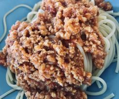 Wegańskie spaghetti bolognese