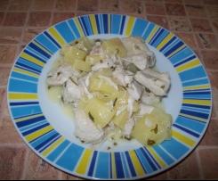 Piers z kurczaka z ananasem