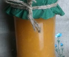 Dżem z dyni i pomarańczy z imbirem, cynamonem i goździkami