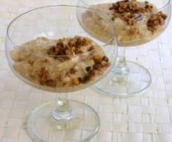 Pudding z orzechów włoskich