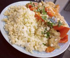 Ryż z kalafiora (low carb, keto, dieta ketogeniczna, dieta niskowęglowodanowa)
