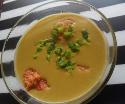 zupa krem z cieciorki i soczewicy z kluseczkami z kaszy mannej