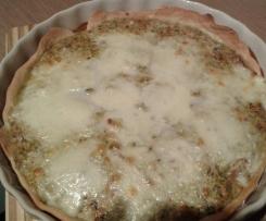 Tarta z brokułami, suszonymi pomidorami i pieczarkami