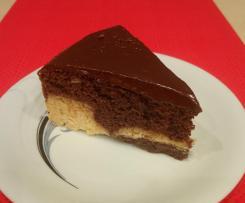 Fit ciasto waniliowo-czekoladowe (bez cukru, bez laktozy, bez glutenu)