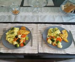 Piersi z kurczaka, warzywa na parze _ puree