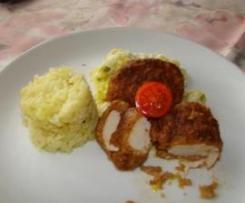 Filet z kurczaka w papryce z dodatkiem pora