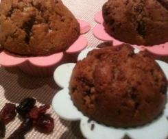 Muffiny z czekoladą i żurawiną