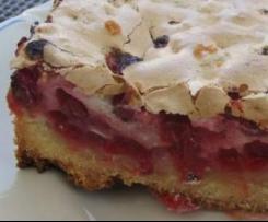 letnie ciasto z czerwoną porzeczką