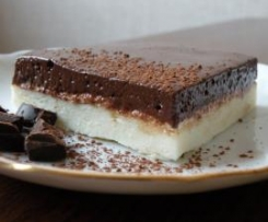 Sernik z puszystą masą baaardzo czekoladową