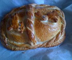 Szynka w chlebie z prażoną cebulką