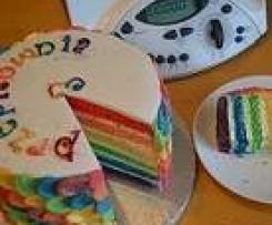 Tort Tęczowy (Rainbow cake) na 3-latka Przepisowni
