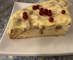 Szybkie i łatwe ciasto z rabarbarem i budyniem waniliowym