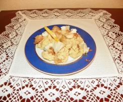 Kasza jaglana z karmelizowaną gruszką, orzechami i gorgonzolą