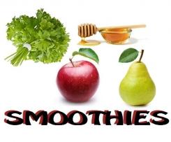 SMOOTHIES jabłko, gruszka, miód i pietruszka