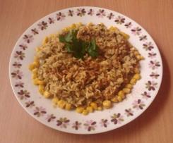 Fasolka mung z brązowym ryżem