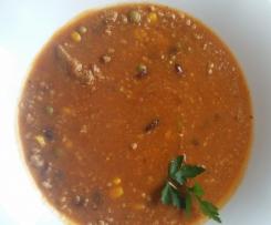 zupa a la mexico z mięsem mielonym