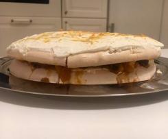 Tort bezowy - wersja zimowa! -  pyszna!