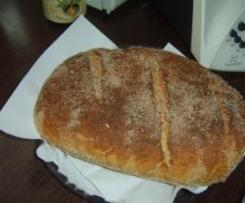 Chleb żytni na zakwasie,maślance i drożdżach z otrębami