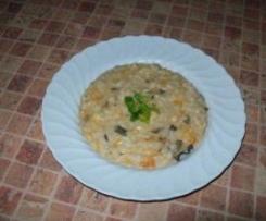 Wariant Risotto ai funghi  - risotto z dynia i grzybami
