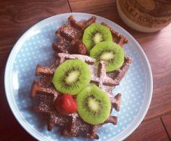 Chrupiące gofry kakaowe (bez glutenu)