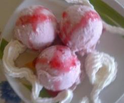 Lody owocowe z białek