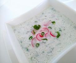 Zupa chłodnik z ogórków gruntowych
