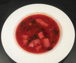Zupa z botwinką i soczewicą