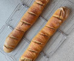Bagietki pszenne na zakwasie i drożdżach