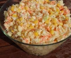 surówka z białej kapusty i kukurydzy